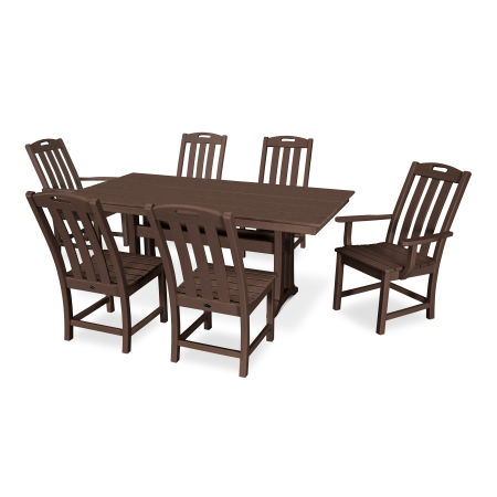 Yacht Club 7-Piece Farmhouse Dining Set in Vintage Lantern