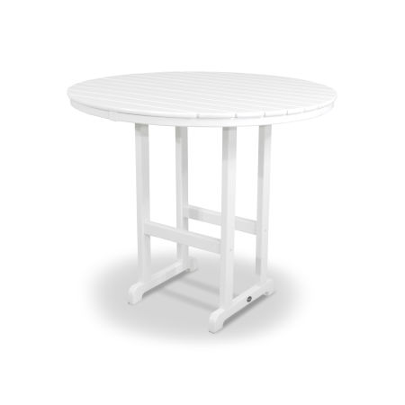 """Monterey Bay Round 48"""" Bar Table in Classic White"""
