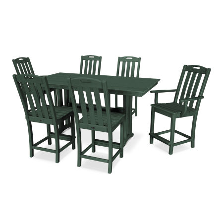 Yacht Club 7-Piece Farmhouse Counter Set in Rainforest Canopy