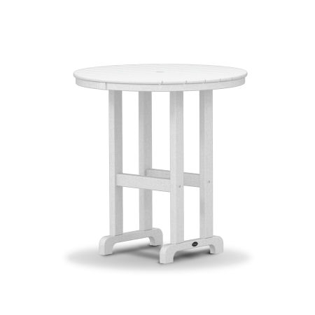 """Monterey Bay Round 36"""" Counter Table in Classic White"""