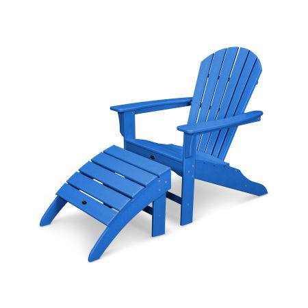 Yacht Club Shellback 2-Piece Adirondack Seating Set in Pacific Blue