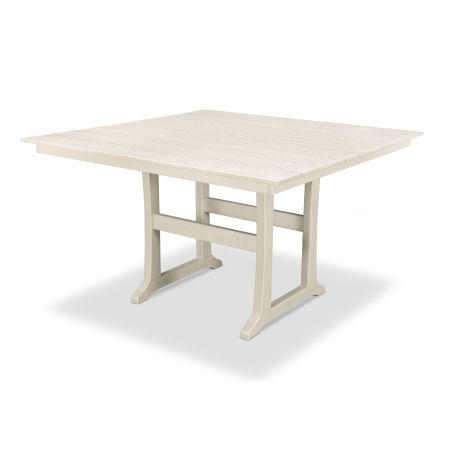 "Farmhouse 59"" Counter Table in Sand Castle"