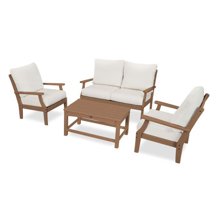 Yacht Club 4-Piece Deep Seating Chair Set in Tree House / Bird's Eye