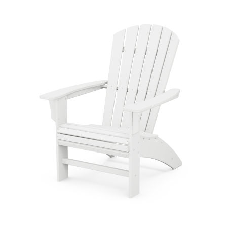 Yacht Club Curveback Adirondack Chair in Classic White