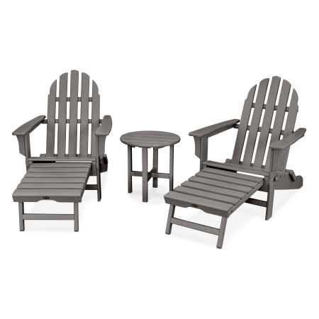 Cape Cod 3-Piece Ultimate Adirondack Set in Stepping Stone