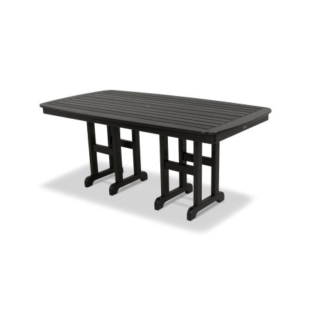 "Yacht Club 37"" x 72"" Dining Table in Charcoal Black"