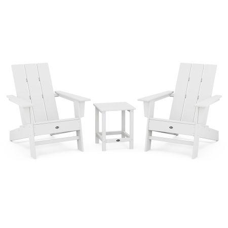 Eastport Modern Adirondack 3-Piece Set in Classic White