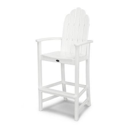 Cape Cod Adirondack Bar Chair in Classic White