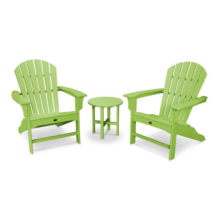 Yacht Club Shellback 3-Piece Adirondack Set in Lime