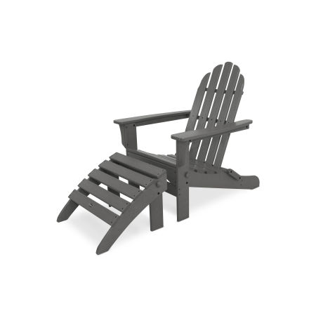 Cape Cod 2-Piece Folding Adirondack Seating Set in Stepping Stone