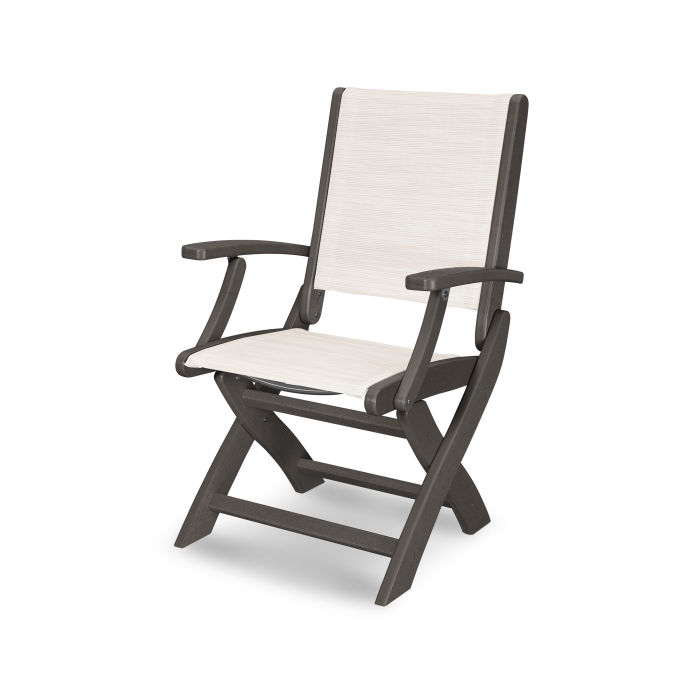 Coastal Folding Chair in Vintage Finish