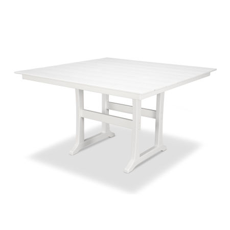 "Farmhouse 59"" Counter Table in Classic White"
