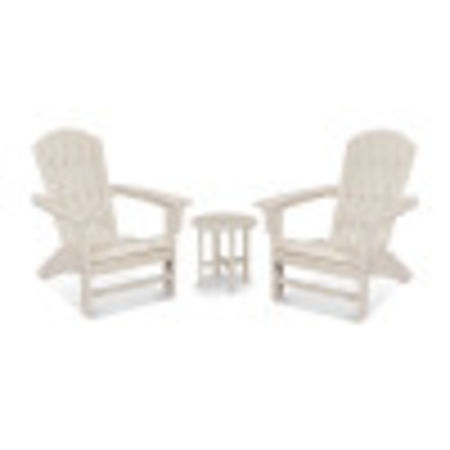 Yacht Club 3-Piece Adirondack Set in Sand Castle