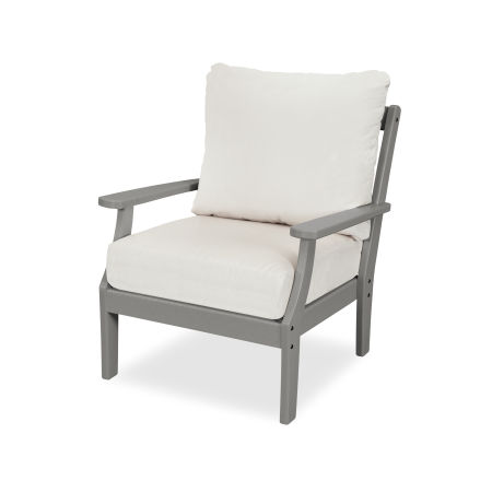 Yacht Club Deep Seating Chair in Stepping Stone / Bird's Eye