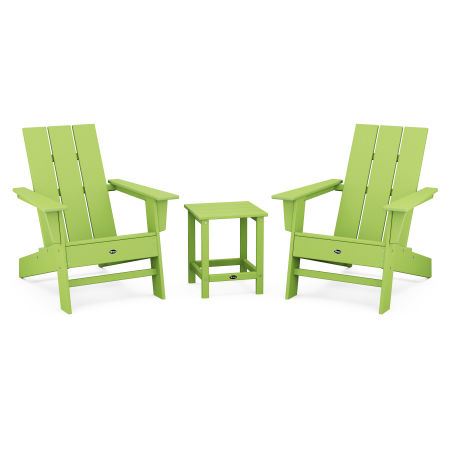 Eastport Modern Adirondack 3-Piece Set in Lime