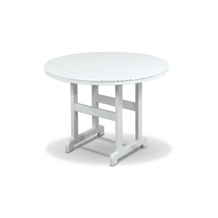 "Monterey Bay Round 36"" Dining Table in Classic White"