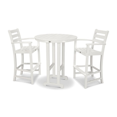 Monterey Bay 3-Piece Bar Set in Classic White