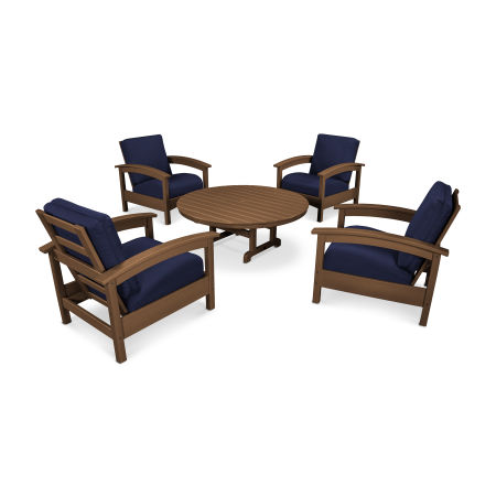 Rockport 5-Piece Deep Seating Set in Tree House / Navy
