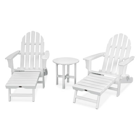 Cape Cod 3-Piece Ultimate Adirondack Set in Classic White
