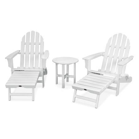 Cape Cod 3-Piece Ultimate Adirondack Set in Classic White