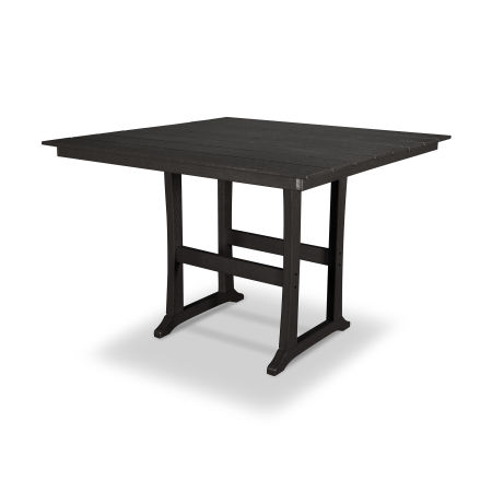 "Farmhouse 59"" Bar Table in Charcoal Black"