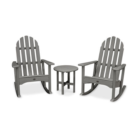 Cape Cod 3-Piece Adirondack Rocker Set in Stepping Stone