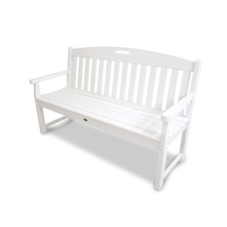"Yacht Club 60"" Bench in Classic White"