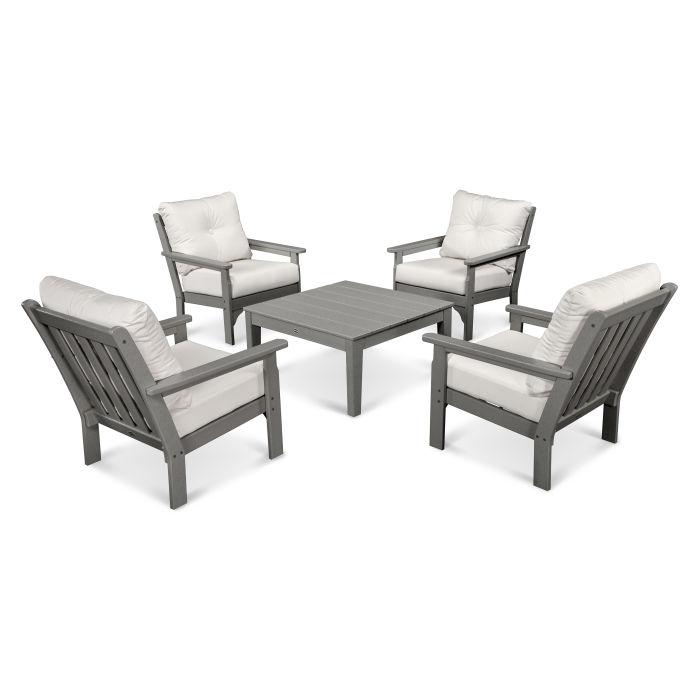 Vineyard 5-Piece Deep Seating Conversation Set