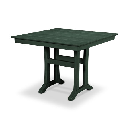 "Farmhouse Trestle 37"" Dining Table in Rainforest Canopy"