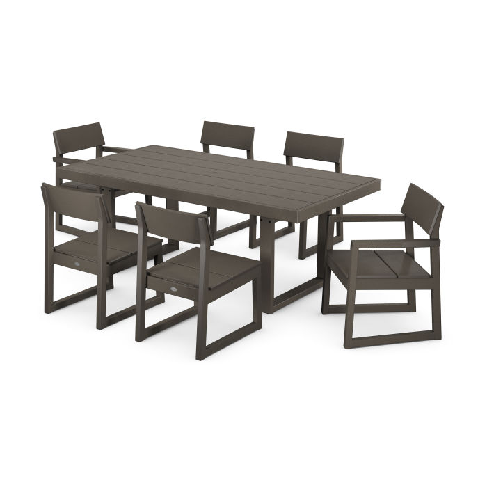 EDGE 7-Piece Dining Set in Vintage Finish