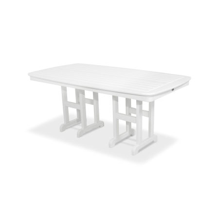"Yacht Club 37"" x 72"" Dining Table in Classic White"