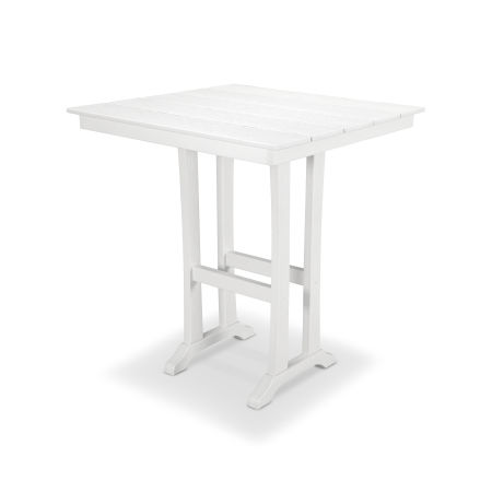 "Farmhouse 37"" Bar Table in Classic White"
