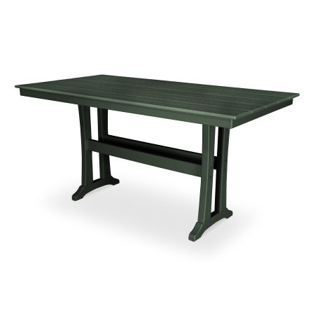 "Farmhouse 37"" x 72"" Counter Table in Rainforest Canopy"