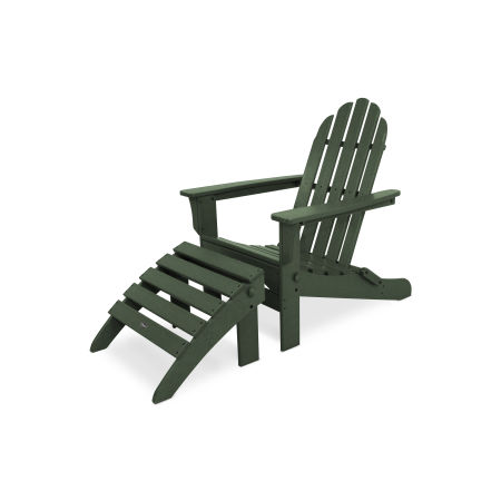 Cape Cod 2-Piece Folding Adirondack Seating Set in Rainforest Canopy