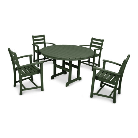 Monterey Bay 5-Piece Dining Set in Rainforest Canopy