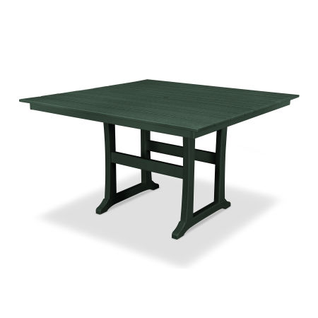 "Farmhouse 59"" Counter Table in Rainforest Canopy"