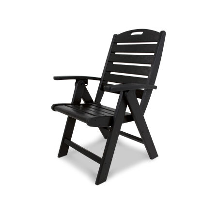 Yacht Club Highback Chair in Charcoal Black