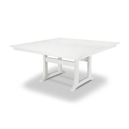 "Farmhouse 59"" Dining Table in Classic White"