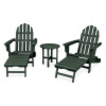 Cape Cod 3-Piece Ultimate Adirondack Set in Rainforest Canopy