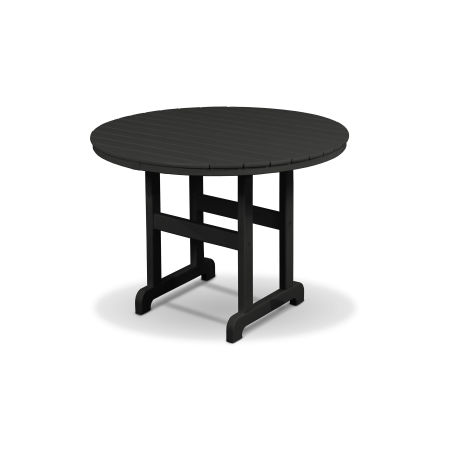 "Monterey Bay Round 36"" Dining Table in Charcoal Black"
