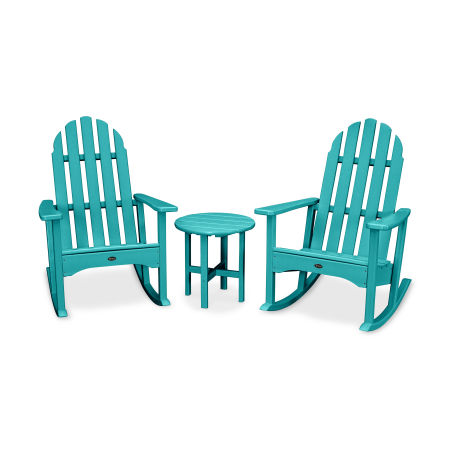 Cape Cod 3-Piece Adirondack Rocker Set in Aruba