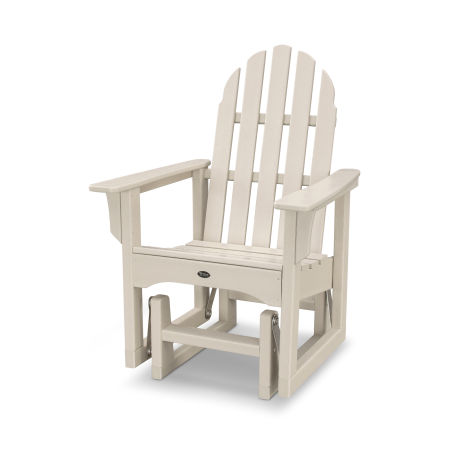 Cape Cod Adirondack Glider Chair in Sand Castle