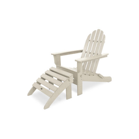 Cape Cod 2-Piece Folding Adirondack Seating Set in Sand Castle
