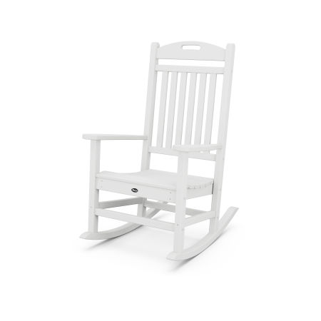 Yacht Club Rocking Chair in Classic White