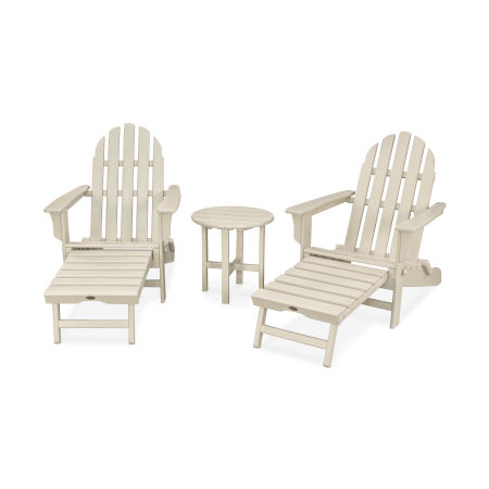 Cape Cod 3-Piece Ultimate Adirondack Set in Sand Castle