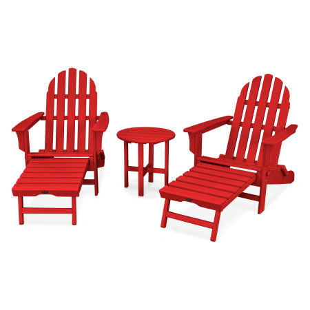 Cape Cod 3-Piece Ultimate Adirondack Set in Sunset Red