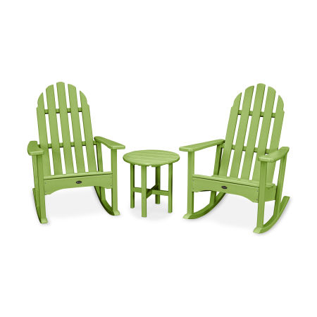 Cape Cod 3-Piece Adirondack Rocker Set in Lime
