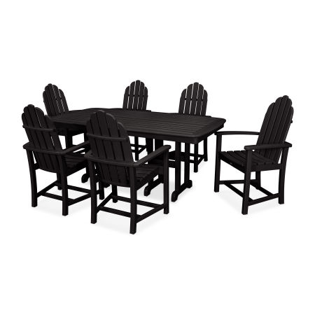 Cape Cod 7-Piece Dining Set in Charcoal Black