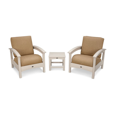 Rockport Club 3 Piece Deep Seating Conversation Set